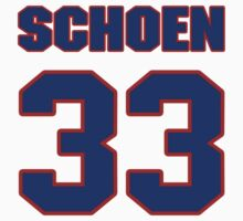 National football player Tom Schoen jersey 33 by imsport