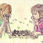 Playing Chess in the Grass by Tabita Harvey