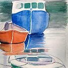 Boats at Peggy&#x27;s Cove by Carolyn Bishop