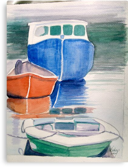 Boats at Peggy's Cove by Carolyn Bishop