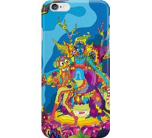 Psychedelic Christmas and New Year poster 2015 iPhone Case/Skin