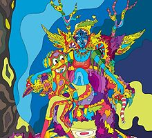 Psychedelic Christmas and New Year poster 2015 by Andrei Verner