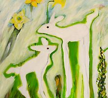 Lambs a leaping by Carol Chapel