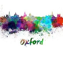 Oxford skyline in watercolor by paulrommer