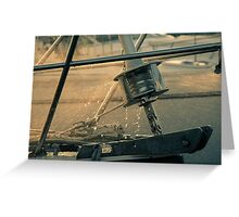 Summer time on the boat Greeting Card