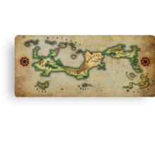 Arcaron old map Canvas Print