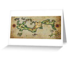 Arcaron old map Greeting Card