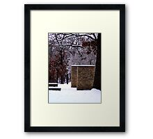Snow Scene with Icy Trees Framed Print