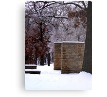 Snow Scene with Icy Trees Metal Print