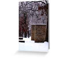Snow Scene with Icy Trees Greeting Card