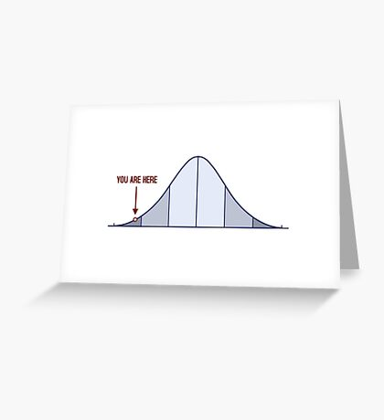 IQ Bell Curve You Are Here Greeting Card