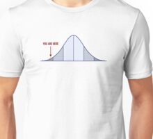 IQ Bell Curve You Are Here Unisex T-Shirt
