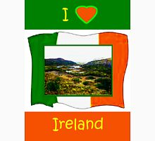 jGibney I Love Ireland 1999 Kerry Lake District Kerry Ireland Flag T-Shirt wb The MUSEUM Red Bubble Gifts Womens Fitted T-Shirt