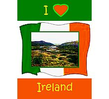 jGibney I Love Ireland 1999 Kerry Lake District Kerry Ireland Flag T-Shirt wb The MUSEUM Red Bubble Gifts Photographic Print