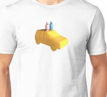 Married Peg People in a Car Unisex T-Shirt
