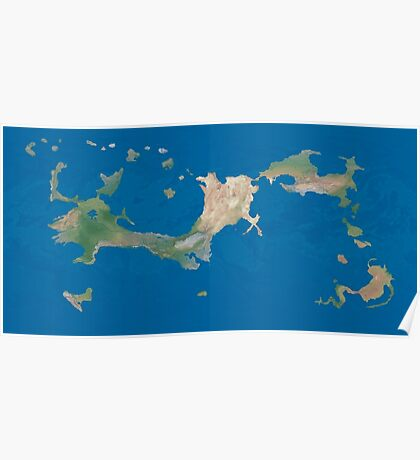 Arcaron satellite map Poster