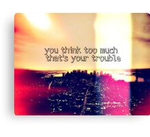 manhattan skyline quote Canvas Print