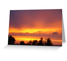 Poole Sunset Greeting Card