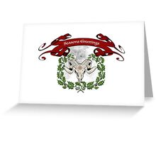 Season's Goat Greeting Card