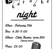 KARAOKE NIGHT POSTER by Athina Monclus