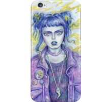 Self Portrait As A 28 Year Old In A Jean Jacket iPhone Case/Skin