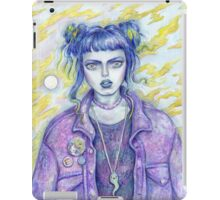 Self Portrait As A 28 Year Old In A Jean Jacket iPad Case/Skin