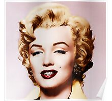 Marylin Monroe (from black and white to color) Poster
