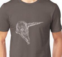 Cream Unicorn Skull Unisex T-Shirt
