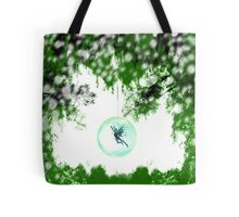 Wintery Fairy Snow Globe Tote Bag