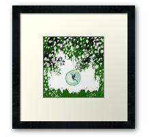 Wintery Fairy Snow Globe Framed Print
