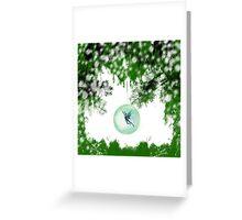 Wintery Fairy Snow Globe Greeting Card