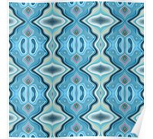 Turquoise Abstract Pattern Poster