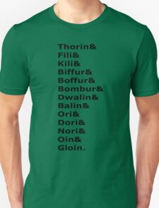 The Dwarves of The Hobbit T-Shirt
