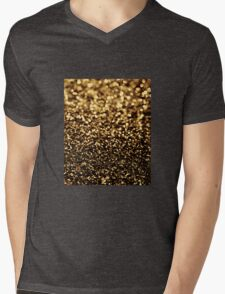 black gold Mens V-Neck T-Shirt