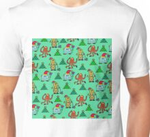 happy new year monsters pattern Unisex T-Shirt