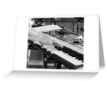 Keyboard Greeting Card