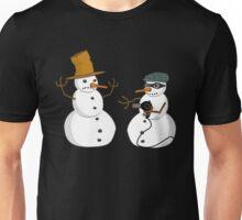 Snowman Stick up Unisex T-Shirt