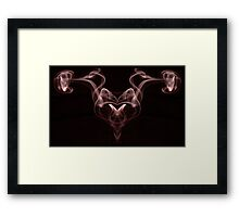 Smoke Red Framed Print