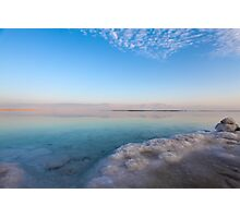 Israel, Dead Sea, salt crystalization Photographic Print