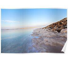 Israel, Dead Sea, salt crystalization Poster