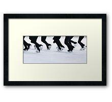 Synchro Skating Framed Print