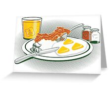 The Legend of Breakfast Greeting Card