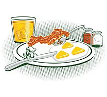 The Legend of Breakfast Photographic Print