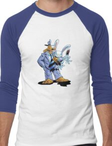 Sam & Max - Hug Art Men's Baseball ¾ T-Shirt