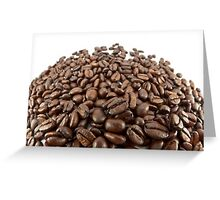 Coffee beans. Greeting Card
