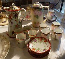 Tea Set At A Sale by WildestArt