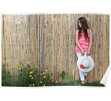Lonely 12 year old with white hat Poster