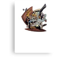 Sam & Max - Door Art Canvas Print