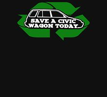Save A Civic Wagon (white letters) Unisex T-Shirt