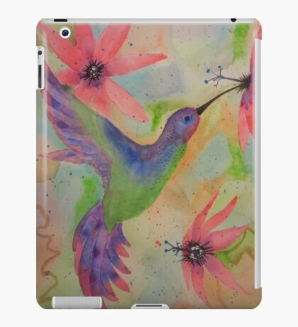 Hummingbird and Passion Flowers iPad Case/Skin